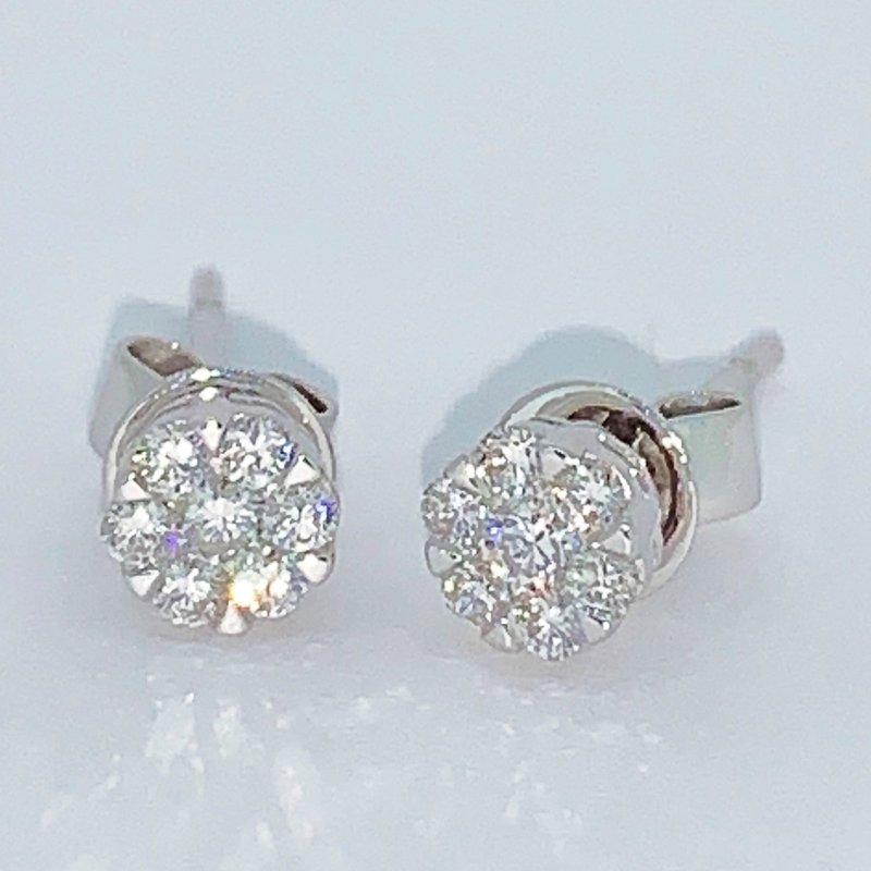 Decor Diamond Stud Cluster Earrings