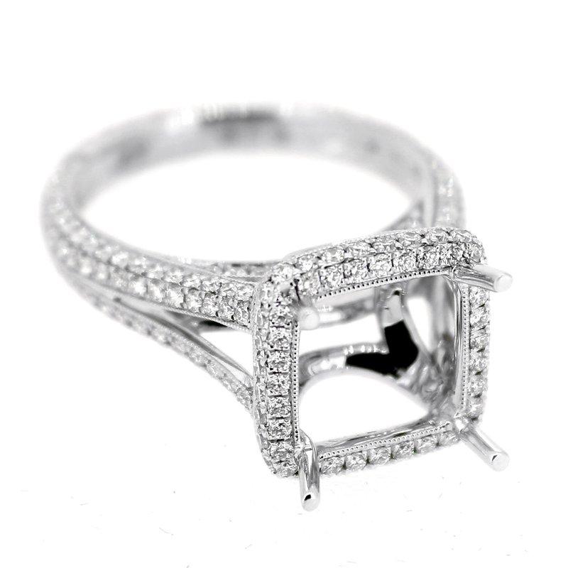 Decor Halo Pave Diamond Ring Mounting