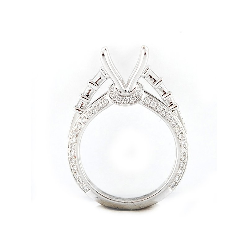 Decor Round and Baguette Cut Diamond Mounting