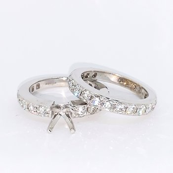 2.40ctw Diamond Ring Mounting & Band