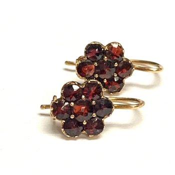 Floral Garnet Earrings