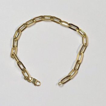 Yellow Gold Paperclip Bracelet