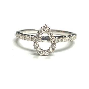 Pear Shaped Diamond Halo Ring Mounting