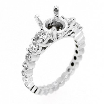 Graduated Diamond Ring Mounting