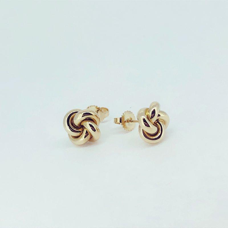 Tiffany Co Gold Love Knot Earrings