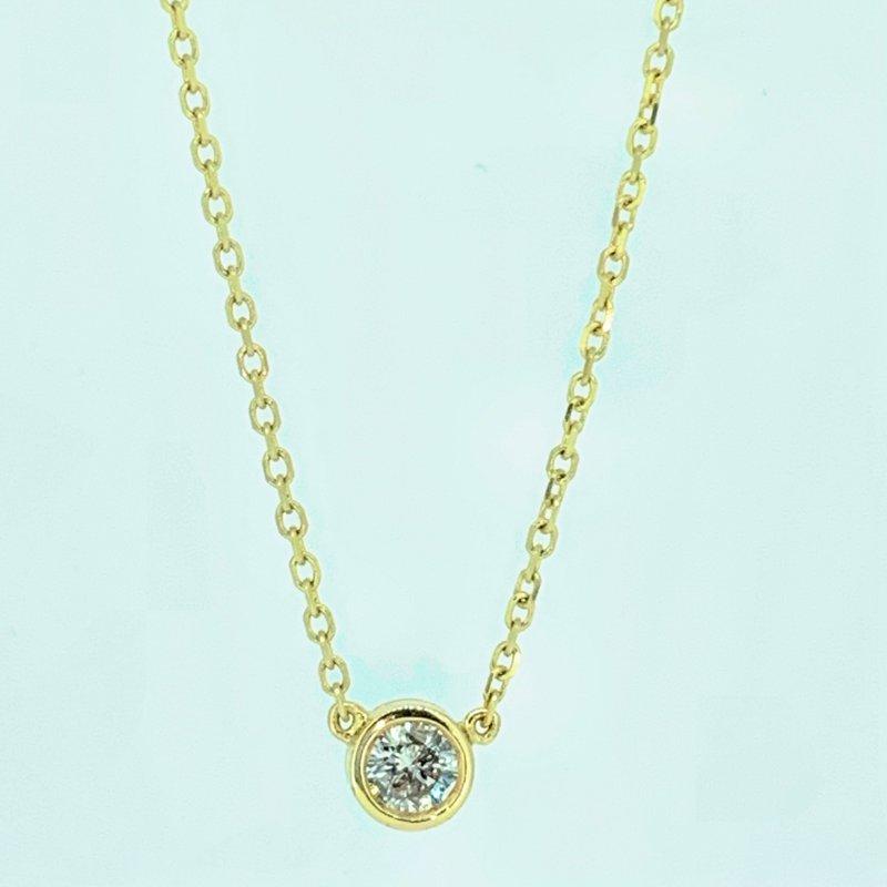 Decor Bezel Set Diamond Necklace