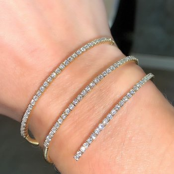 3 Row Flexible Diamond Bracelet
