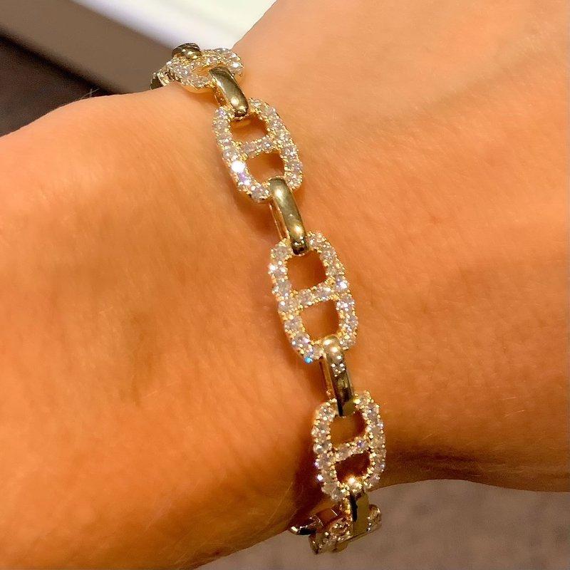 2ctw Mariner Diamond Bangle Bracelet