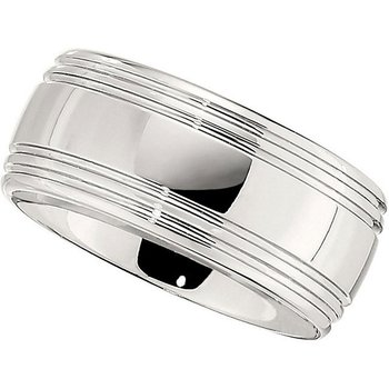 Size 10 Polished Cobalt Wedding Band