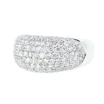 Domed Pave Diamond Band