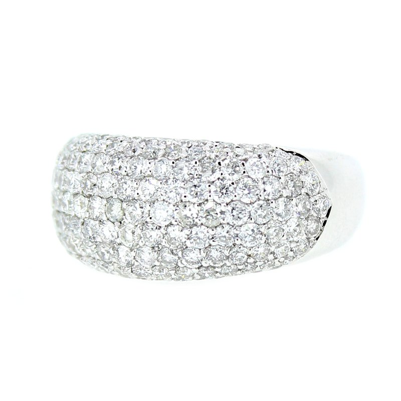 Decor Domed Pave Diamond Band