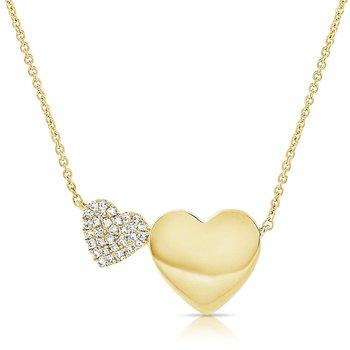 Pave Double Heart Necklace