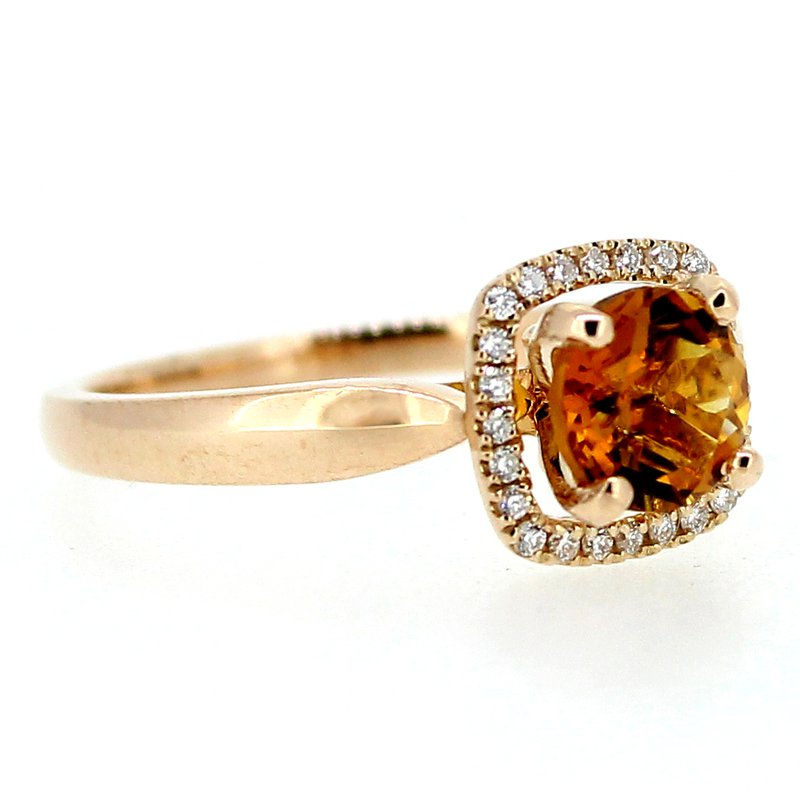 Decor Citrine & Diamond Ring