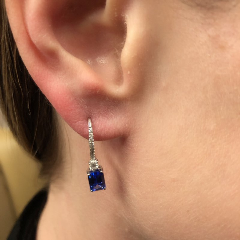 Decor Tanzanite & Diamond Earrings