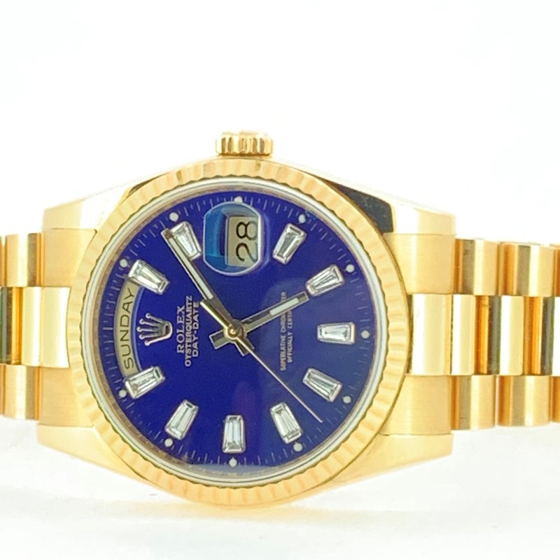 Pre-owned Rolex President Day-Date Double Quick 2016