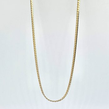"""18"""" Two Tone Flat Link Chain Necklace"""