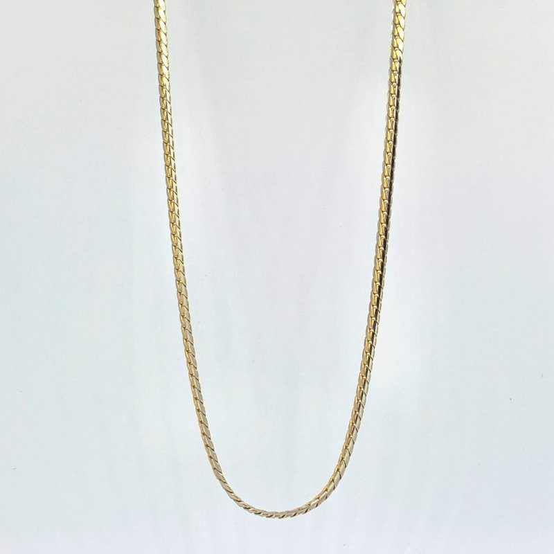 """Decor 18"""" Two Tone Flat Link Chain Necklace"""