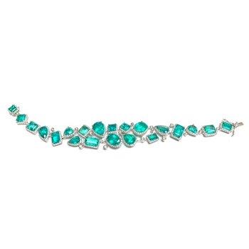 Exquisite Emerald and Diamond Bracelet