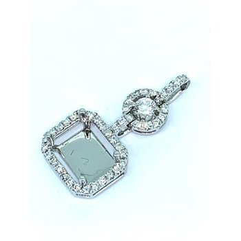 Rectangle Diamond Halo Pendant Mounting