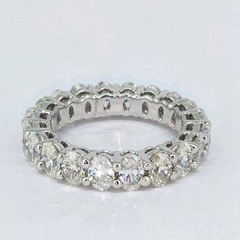 3.70ctw Oval Diamond Eternity Band