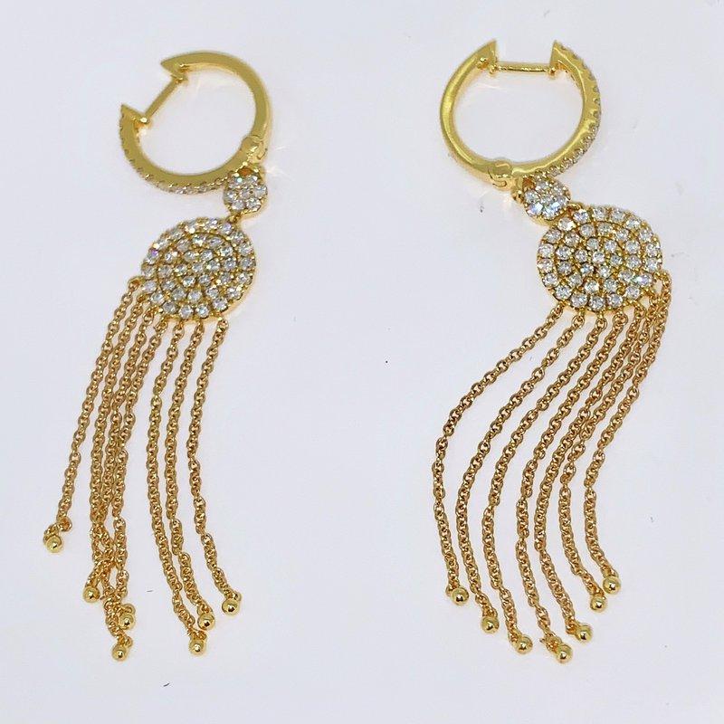 Decor Pave Diamond Tassel Earrings