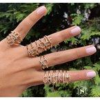 Sabrina Diamond Initial 'A' Ring
