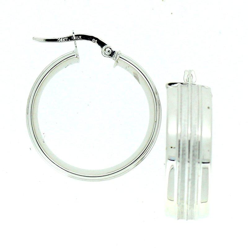Decor Wide Hoop Earrings