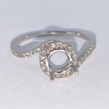 Halo Bypass Diamond Ring Mounting