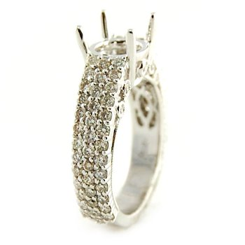 Pave Diamond Ring Mounting