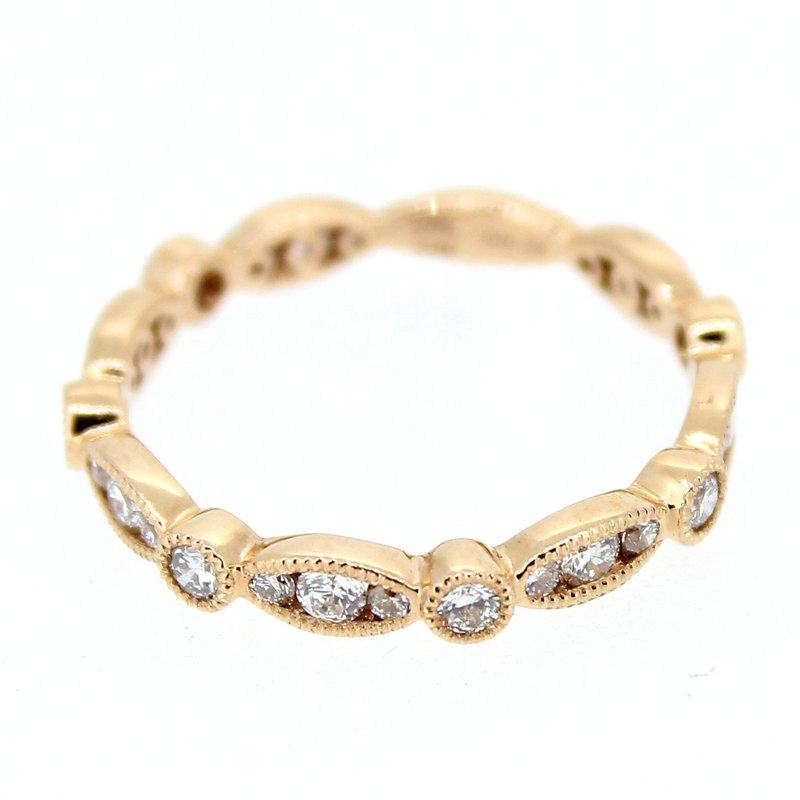 Decor Rose Gold Stackable Diamond Band