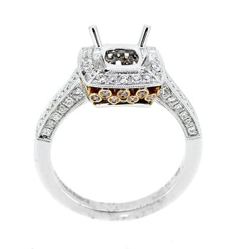 Rose & White Gold Diamond Ring Mounting