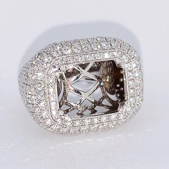 Pave Wide Diamond Ring Mounting