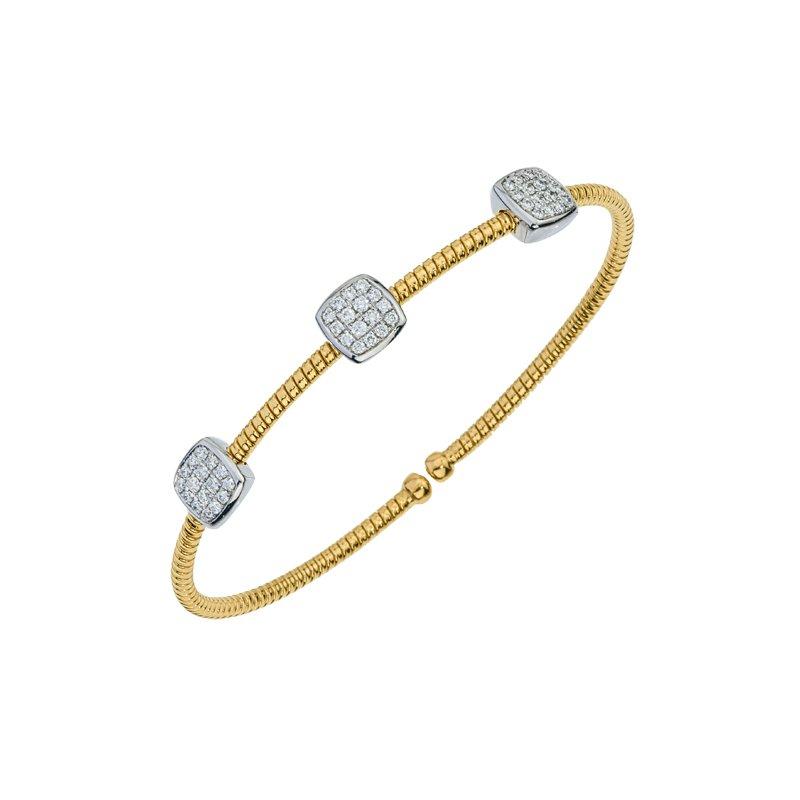 DA Gold Pave Diamond Cuff Bracelet