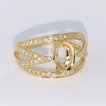 Open Multi-Row Diamond Ring Mounting