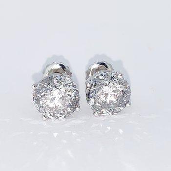 4.16ctw Diamond Stud Screwback Earrings