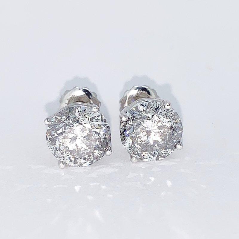 Decor 4.16ctw Diamond Stud Screwback Earrings
