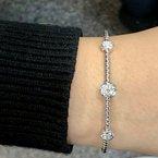 DA Gold Circles Pave Diamond Cuff Bracelet