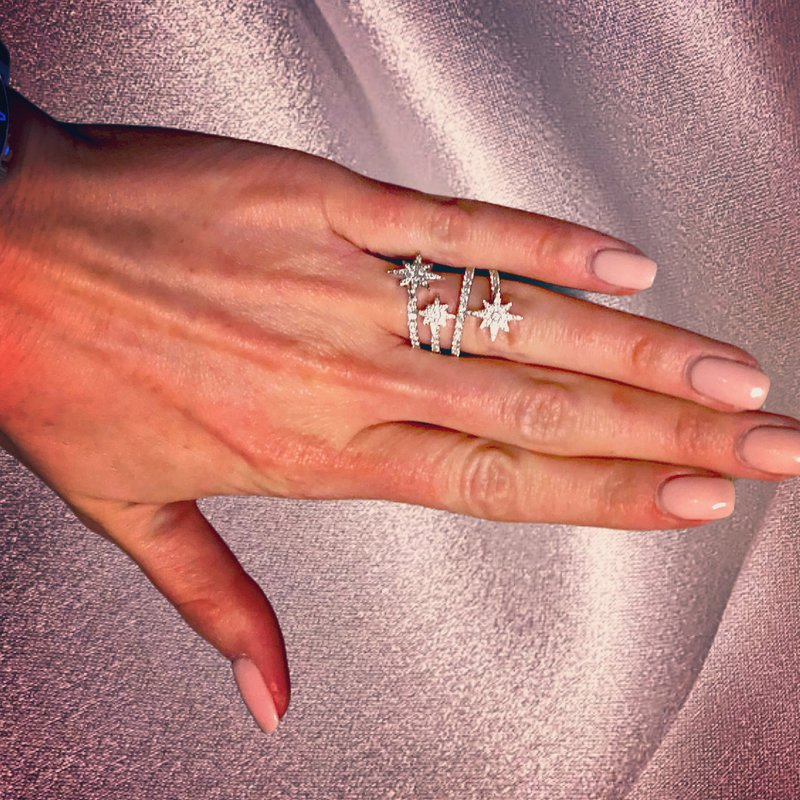 Decor Diamond Star Wrap Ring