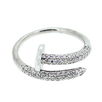 Pave Diamond Nail Ring
