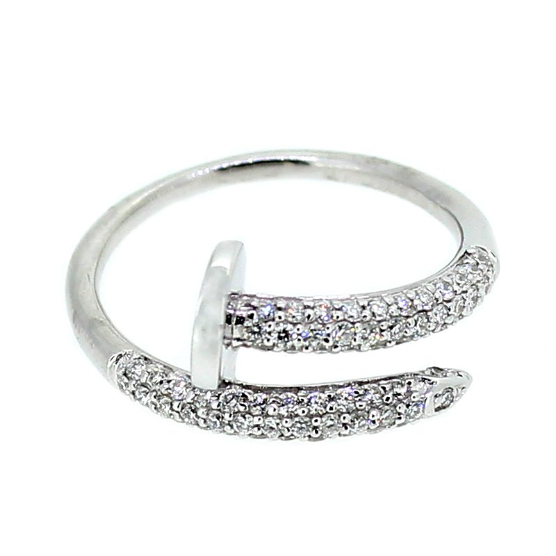 Decor Pave Diamond Nail Ring