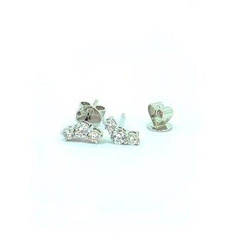 Curved Diamond Earrings