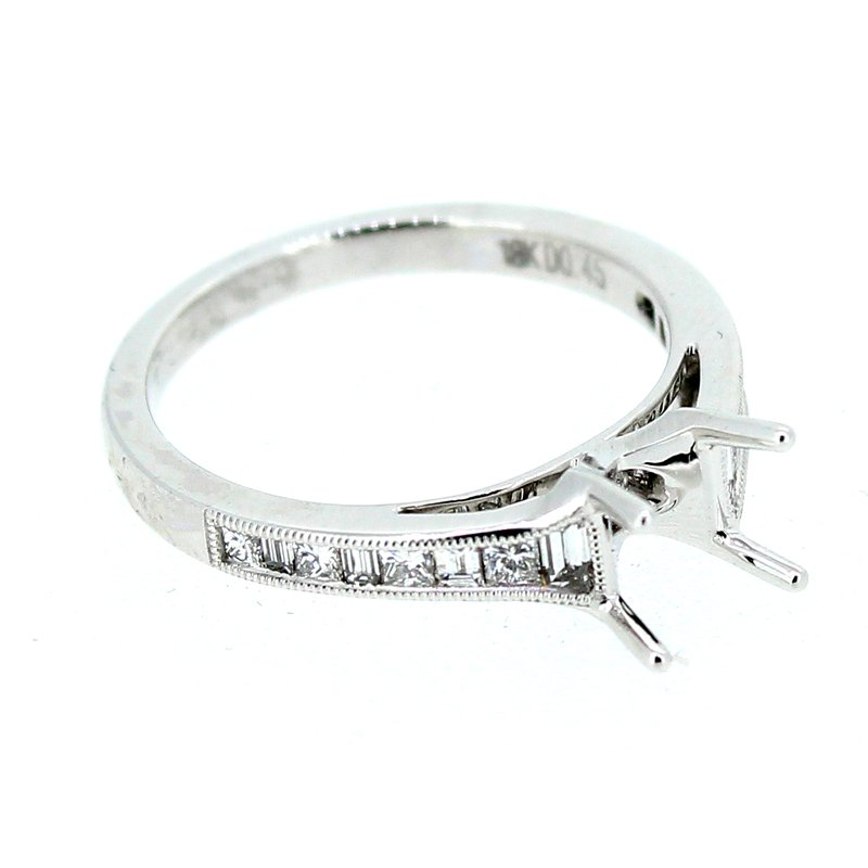 Decor Baguette and Princess Cut Diamond Ring Mounting