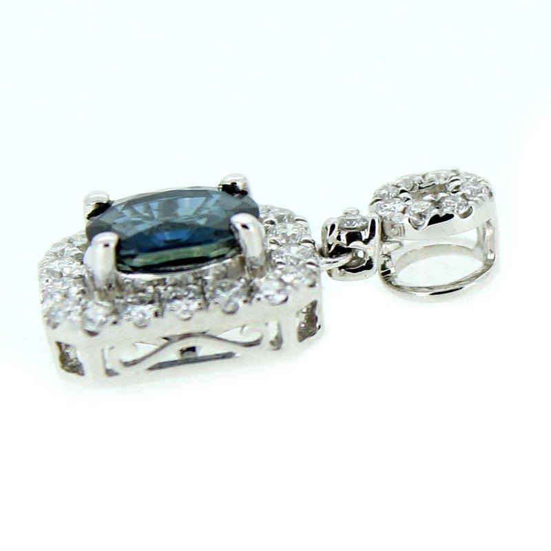 Decor Sapphire & Diamond Halo Pendant