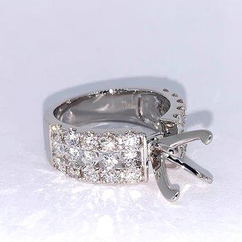3 Row Diamond Ring Mounting