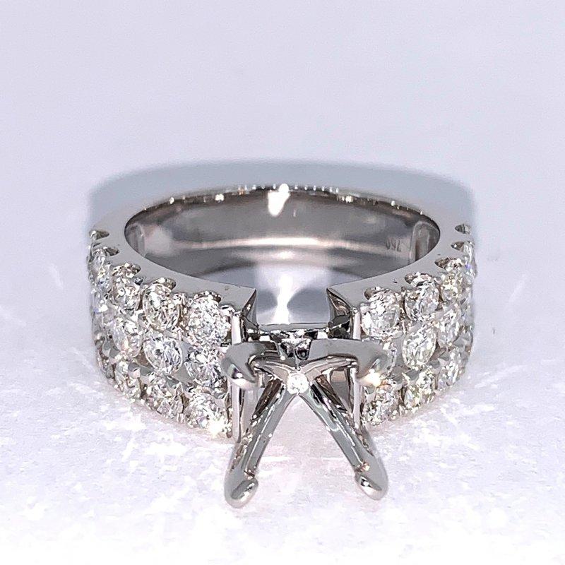 Decor 3 Row Diamond Ring Mounting