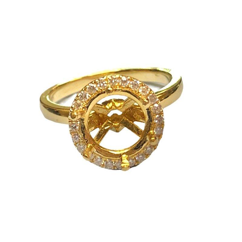 Decor Halo Diamond Engagement Ring Mounting