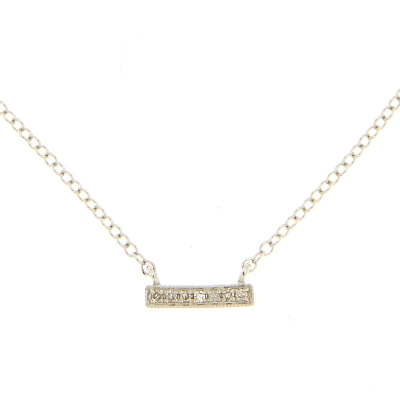Meira T Designer Meira T Diamond Bar Necklace