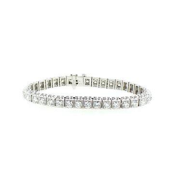 8.01ctw Vintage Style Diamond Bracelet