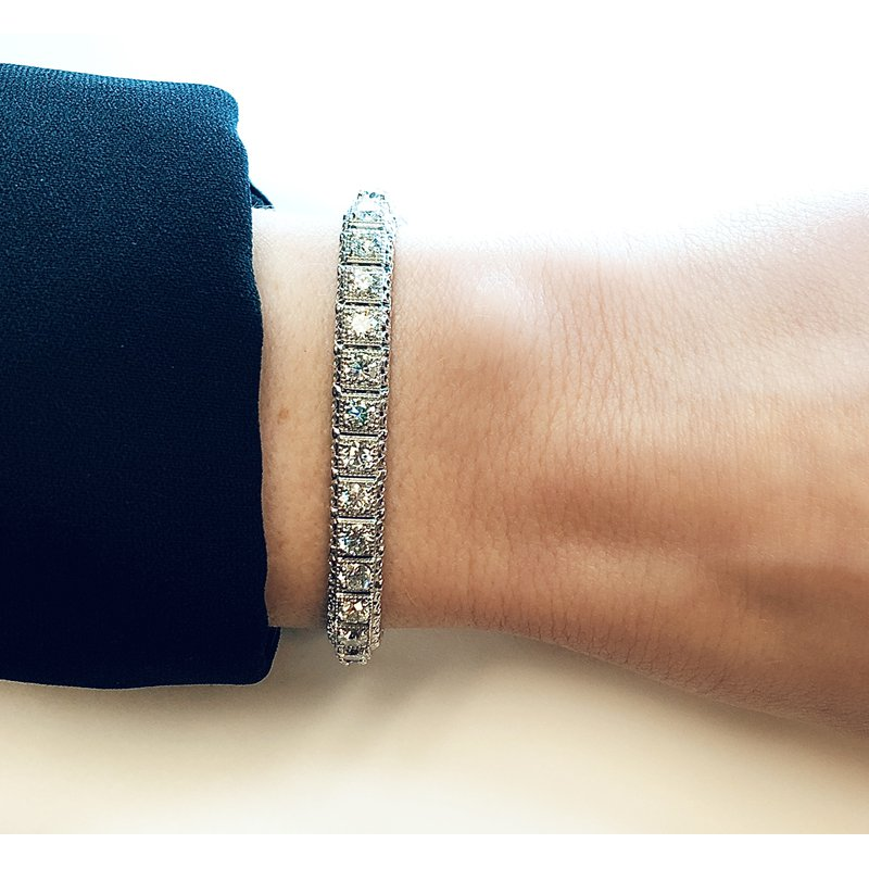 Decor 8.01ctw Vintage Style Diamond Bracelet