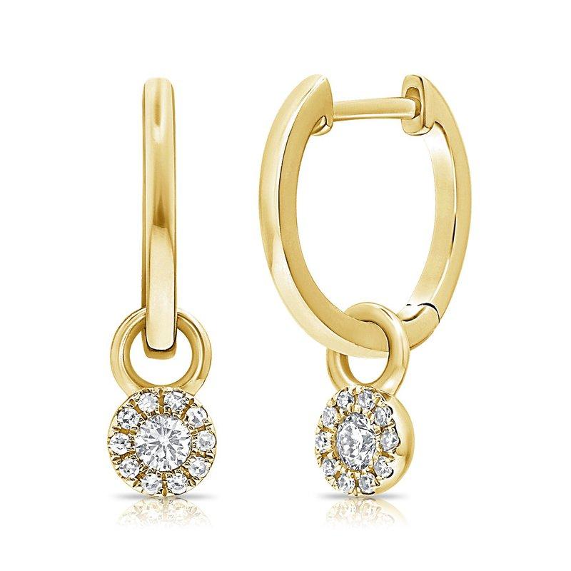 Sabrina Gold & Diamond Dangle Huggies
